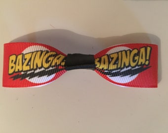 "Big Bang Theory ""Bazinga!"" Single Bow Hair Accessories"