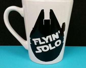 """Star Wars """"Flyin'""""  Solo"""" Millennium Falcon coffee mug"""