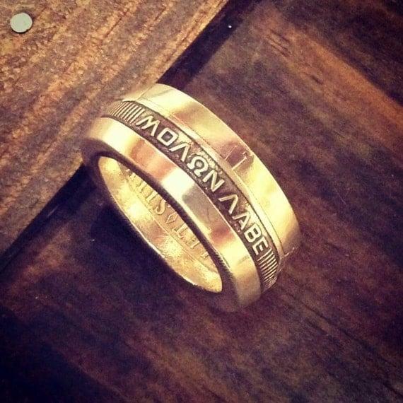 Molon Labe Ring Silver