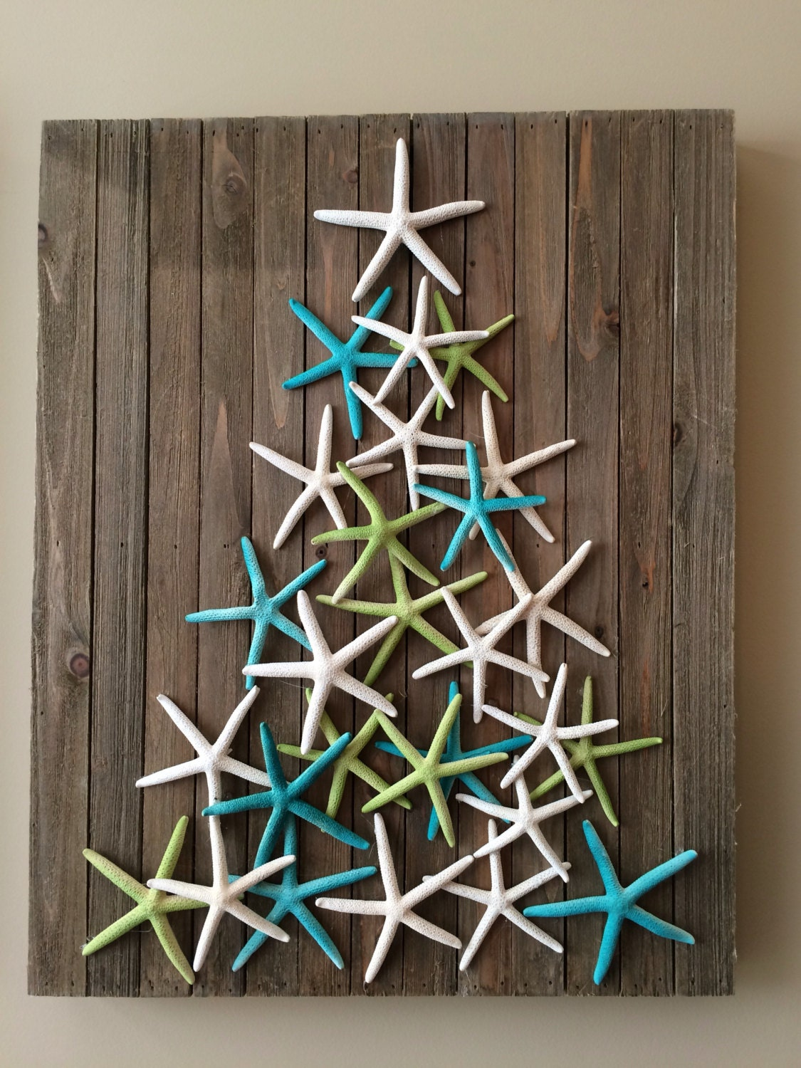 Christmas Decorations For The Beach House : Coastal christmas decor starfish art beach by planbinteriors