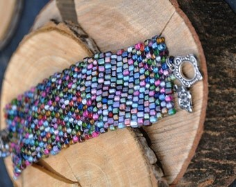 Bracelet: cozy fresh colours, glass beads