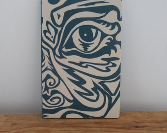 blue tribal Illustrated Notebook