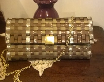 Faux leather clutch Network