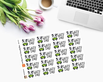 LAZY DAY Planner Stickers CAM00115