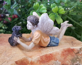 Miniature Fairy Ross and Puppy Winston