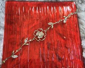 Silver Flower Bracelet, Silver Bracelet, Bridesmaid Gift, Bridesmaid Jewelry, Silver Jewelry, Bridal bracelet