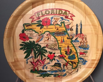 Vintage Bamboo Florida Tray