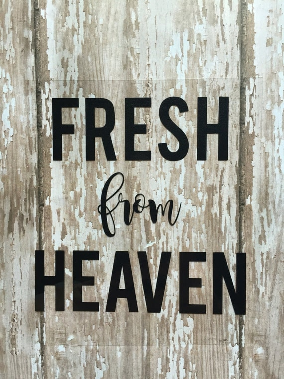 Fresh from Heaven iron on decal/ DIY baby outfit/ DIY hospital coming home outfit for baby/ DIY baby bodysuit