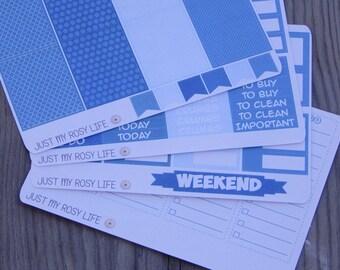 Teal Appeal Weekly Kit Planner Stickers