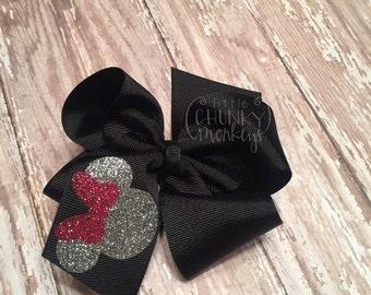 Custom Minnie Mouse Hair Bow, birthday hair bow, southern girl hair bow