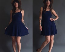 Vintage 90s All That Jazz Lace Babydoll Burnout Mini Dress