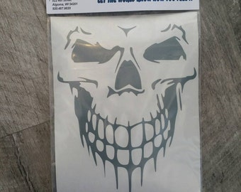 Window Decal: Skelton Face