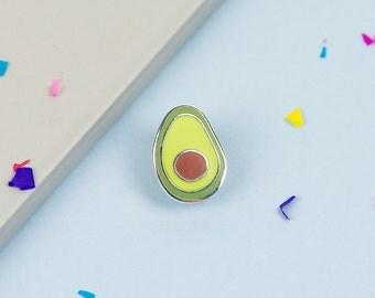 Avocado Enamel Pin // Food pin, lapel pin, hard enamel pin // Vegetarian pin, vegan//EP029