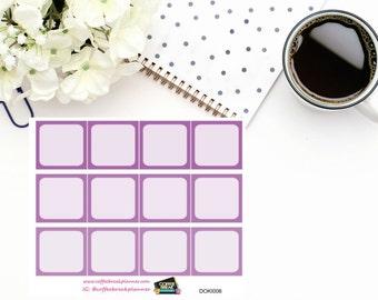 Purple 1/2  boxes for Doki Discagenda| Planner Stickers| Dokibook Discagenda| Personal Planner| DOKI006