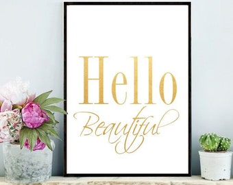 Items Similar To Hello Beautiful Printable Art For Baby