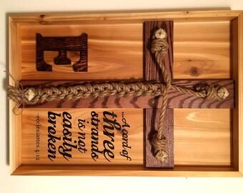Wedding Unity Ceremony - Braid (Natural Western Cedar) w/Ecclesiastes 4:12 scripture