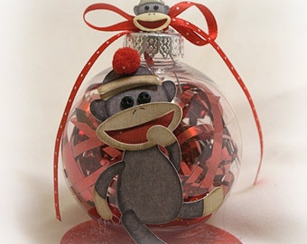 Sock Monkey Ornament C