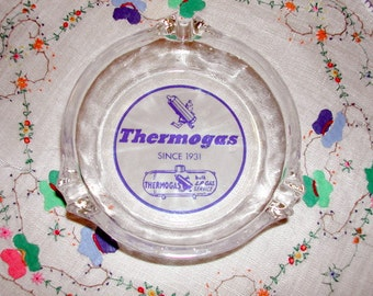 Vintage Advertising Ashtray, Thermogas, Older Logo