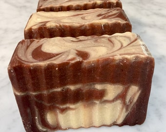 Pumpkin Souffle soap - handmade soap, cold process, sustainable palm oil, pumpkin puree