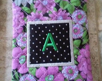 Monogram Eye Glass Case Embroidered Personalized Quilted