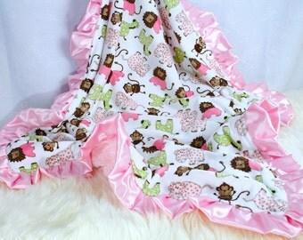 Baby Girl Blanket, Baby Gift, Minky Baby Blanket, Personalized, Pink Baby Blanket,  Crib Blanket Stroller Blanket, Baby Girl Shower Gift