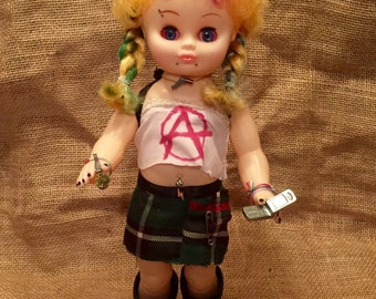 Andi circa 95. OOAK repurposed vintage doll.