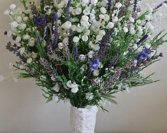 Brides bouquet Lavender & Gypsophila