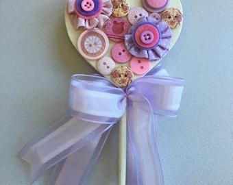 Wand flower girl, cream, lilac, pink, purple