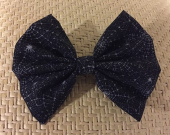 Large Spider Web Halloween Bow
