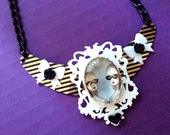 Masked Marie Antoinette Necklace