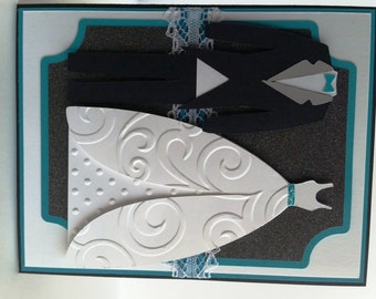 Tux and Gown Wedding Card