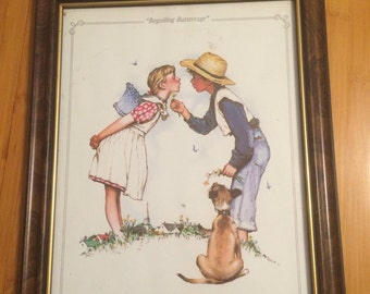 "Normal Rockwell print ""Beguilling Buttercup"""