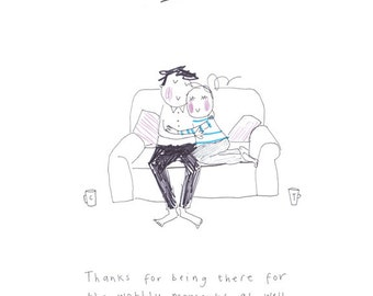 HOME - print from the 'Sketchy Muma' series by Anna Lewis