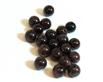 6mm Round Garnet Beads / 6mm Garnet Beads / 6mm Garnets / Garnet Beads / 6 mm Garnet Beads / SET OF FORTY