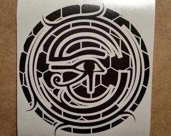 Egypt Vinyl Decal - Egyptian Decor - Egyptian Wall Decor - Egyptian Wall Decal - Egyptian Sticker - Egyptian Art - Egyptian Vinyl Sticker
