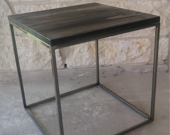 Rustic Contemporary Side Table