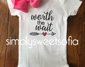 coming home outfit, baby onesie, worth the wait, Onesie, cute outfit, girl outfit,bodysuit, clothing