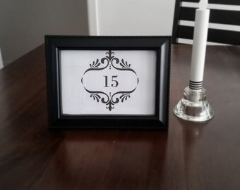 Table Number & Frame