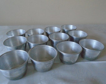 aluminium pudding / baking molds x 12