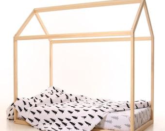 70  x 140 cm lit cabane ,house bed,toddler bed,lit montessori,house bed frame , montessori bed ,kids teepee , toddler house bed ,kids bed