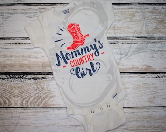 Mommy's Country Girl Infant Bodysuit / Country Baby Outfit / Baby Girl Country Outfit / Farm Girl Outfit / Camo Baby / Cowgirl Baby / Gift
