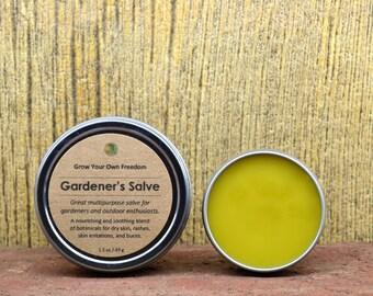Organic Gardeners Salve: Gardeners Balm || Organic Skin Salve || Organic Skin Balm || Organic Herbal Salve || Herbal Healing Salve