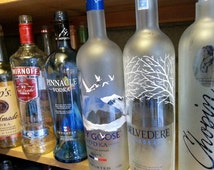Custom Vodka Gifts / Bottle Planter / Alcohol Gifts / Snack Bowl / Serving Dish /Grey Goose / Ketel / Effen / Svedka Chopin Belvedere Titos