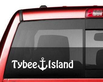 Tybee Island car window decal - Tybee Island Vinyl Decal - Tybee Island Vinyl Sticker- TYB Decal - TYB Sticker
