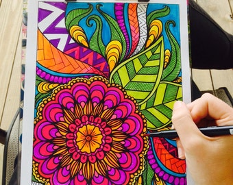 Adult Coloring Book- Volume 3- Printable
