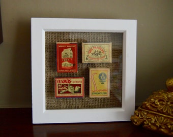 Vintage Framed Matchbox Art