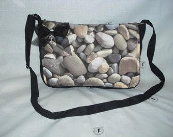 bag printed on stones