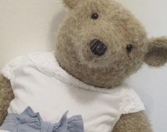 """Hettie Higginbottom - a 23"""" ooak mohair bear."""