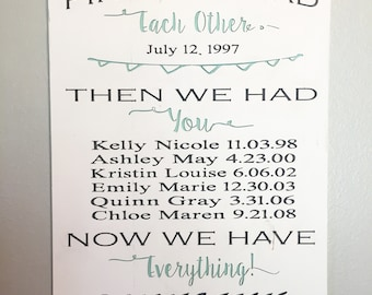 Wood sign- First we had each other (CNC carved & hand painted)