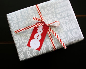 Christmas Tags/Labels Red & Green